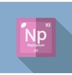 Chemical element neptunium flat vector