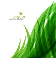 Abstract green waves background vector