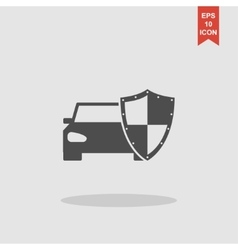 Car shield icon flat vector
