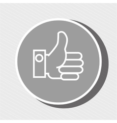 Hand gray background isolated icon design vector