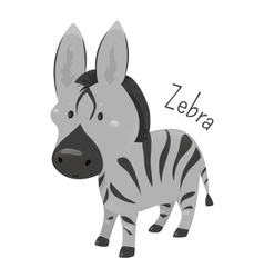 Zebra isolated child fun pattern icon vector