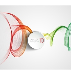 Abstract transparent fractal wave template vector image