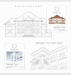 Architectural plan of building vector