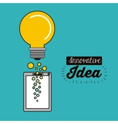 best idea concept design vector image