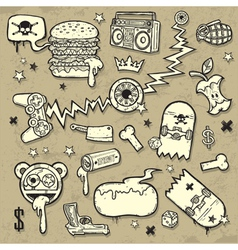 collection of grunge clip-art vector image