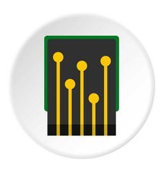 Computer processor icon circle vector