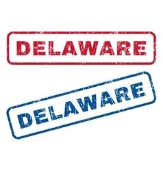 Delaware rubber stamps vector