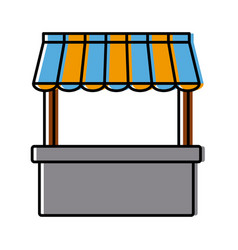 empty stand stall template store and marketing vector image