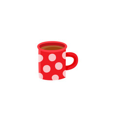 flat hot beverage cup icon vector image vector image