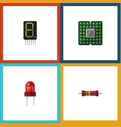 Flat icon device set of recipient display vector