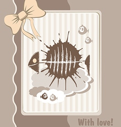 greeting fish vector image