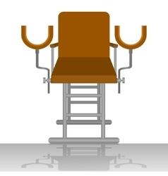 Gynecological chair vector