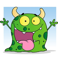 Happy Little Monster Cartoon Character vector image
