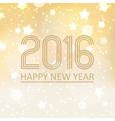 happy new year 2016 on shiny christmas background vector image vector image