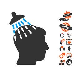 Head shower icon with dating bonus vector