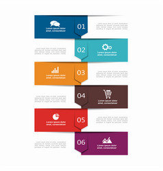 Infographic template can be used for workflow vector