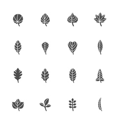 Leafs Icons for Pattern vector image vector image