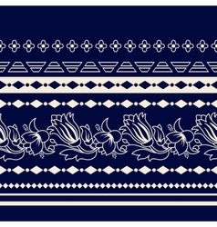 Lines Paisley seamless pattern vector image