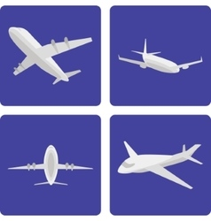 logistics aircraft set vector image