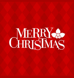 Merry christmas typographic design poster vector