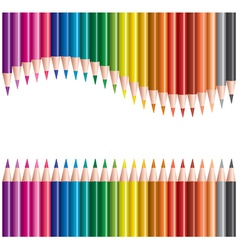 pencils in rows vector image vector image