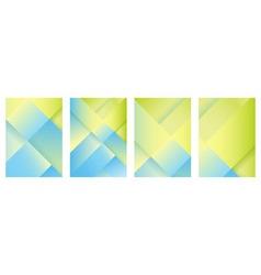 polygon brochure set vector image vector image