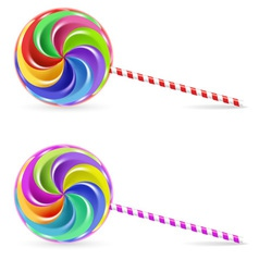 rainbow lollipop vector image