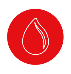 Red symbol drop blood donation transfusion vector