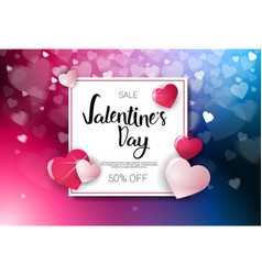sale valentines day discounts holiday shopping vector image vector image