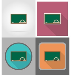 school education flat icons 08 vector image vector image