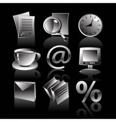 set of business web icons vector image