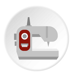 Sewing machine icon circle vector