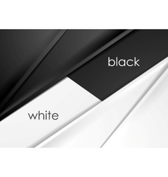 Smooth silk abstract black and white background vector