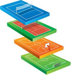 sport court vector image vector image