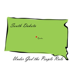State of South Dakota vector image vector image