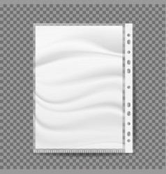 stationery bag for paper a4 size vector image vector image