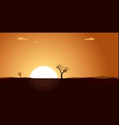 Summer desert plain landscape vector