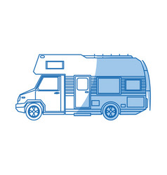 truck camper home travel transport image vector image