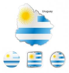 uruguay vector image
