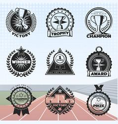vintage sport rewards labels set vector image vector image