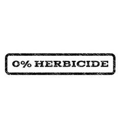 0 percent herbicide watermark stamp vector image vector image