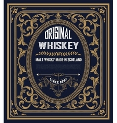 Vintage label for whiskey you can apply this vector