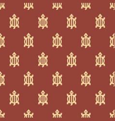 Adinkra west african symbols pattern textile vector