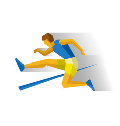 Obstacle race runner track-and-field athletics vector