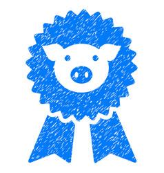 pig award seal icon grunge watermark vector image