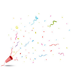 Exploding party popper vector