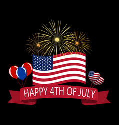 Independence day of america tape a happy day of vector