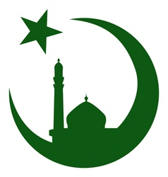 Symbol of islam and mosque ramadan vector