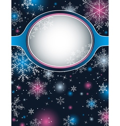 color christmas background with snowflakes vector image