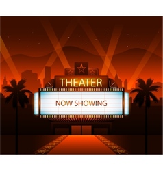 Now showing theater movie banner sign vector